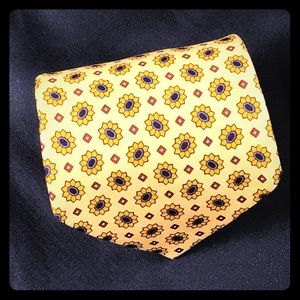 Barney's New York sunflower neck yellow Tie